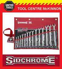 SIDCHROME SCMT22210 14pce RING & OPEN END METRIC SPANNER SET