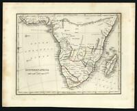 Southern Africa Cape Colony Mozambique Mountains of the Moon 1835 Bradford map