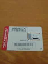 Straight Talk Bring Your Own Phone Byop Verizon Sim Card 4G Lte micro nano