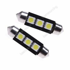 10 Stk Soffitte Canbus 39MM 3 SMD LED Weiß KInnenraum Beleuchtung Lampe 12V