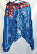 Mens ,womens Gypsy Boho Hippie Aladdin Baggy Genie Harem Hmong cotton Pants 013
