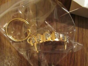 Supreme Fronts Keychain Gold SS19A82 SS19 Brand New Supreme New York 2019 DS