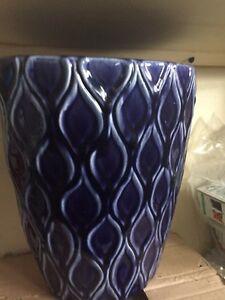 Deep Blue Wide Vase