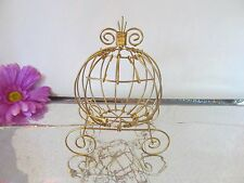 "5"" Mini Gold Cinderella Carriages (Use for Wedding  or Baby Shower Centerpiece)"