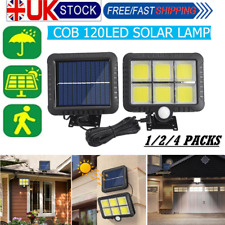 120 LED Solar Outdoor Wireless PIR Motion Sensor Security Rechargeable Lights UK