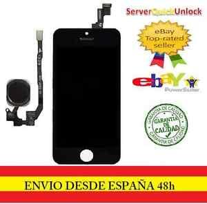 PANTALLA COMPLETA TACTIL LCD PARA IPHONE 5S NEGRO NEGRA + FLEX BOTON HOME NEGRO