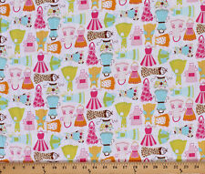 Cotton Fancy Aprons Kitchen Cotton Fabric Print by the Yard Gail D466.26