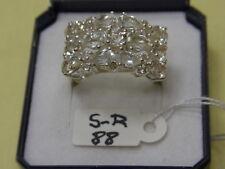 925er Silberring mit Bergkristall Ringgroße 59 Ringkopf 2,42x1,45 cm Ge 8,4 gr