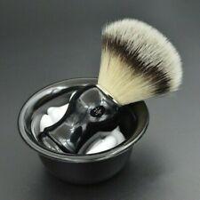 Men Black Handle Shaving Brush Bristles+Razor Soap Bowl Kits Shave & Hair Clean