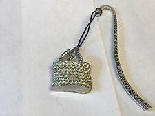 Wicker Handbag TG98 Fine English Pewter On A PATTERN Bookmark