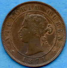 Canada P.E.I. 1871 1 Cent One Large Cent Coin - EF