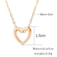 Charm Jewelry Pendant Heart Gift Necklace Stainless Steel Chain Choker Women