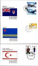 17949/ UNO Flaggen der Nationen - 3 Umschläge - Antarktis, Aruba, Türk. Zypern