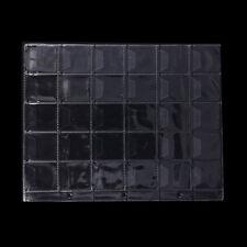 1 Page 30 Pockets Plastic Coin Holders Storage Collection Money Album Case dk0
