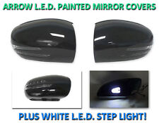 *USA 01-07 W203 C Class Arrow LED Side Painted Black Mirror Cover+LED Step Light