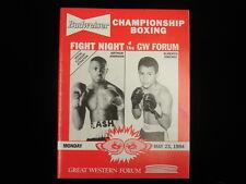 May 23, 1994 Budweiser Boxing Arthur Johnson vs. Alberto Jimenez Program