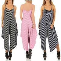 Ladies Jumpsuit Lagenlook Strappy Baggy Harem Dress Top Playsuit Cami SIZE 8 20
