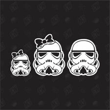 Star Wars Family with 1 girl - Trooper Sticker , Fun Auto Aufkleber, Mädchen