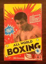 1991 All World AW Boxing box factory sealed Muhammad Ali