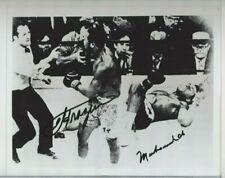 Muhammad Ali & Joe Frazier Boxing Champs Autographed 8x10 Photo PSA Letter
