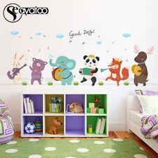 Safari Animal Pig Vinyl Wall Sticker Cartoon Zoo Decal Kids Bedroom Baby Nursery