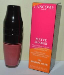 LANCOME Minimal Ocre #193 Matte Shaker Liquid Lipstick FULL SIZE ~ BNIB ~ RARE