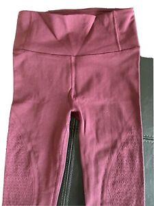 LULULEMON Wunder Under Burgundy Lace Leggings High Rise Luxtreme Size 6  NWOT