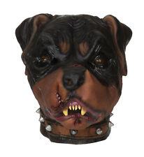 Hommes Zombie Rottweiler Adultes Masque Effrayant Animal Chien Halloween Costume