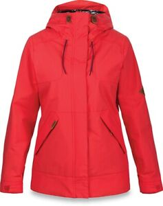 Dakine Bijoux Shell Snowboard Jacket Women's Medium Poppy Red New