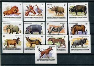 Burundi 1983  Wild Animals set of 13 imperf.  REPLICA