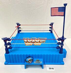 WWF wwe Vintage Hasbro WWF Blue Ring Complete Very Nice