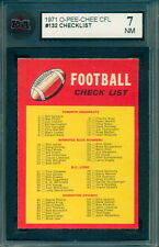 1971 OPC O PEE CHEE CFL FOOTBALL #132 UNMARKED CHECKLIST Graded KSA 7 N-MINT