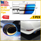 Car Muffler Tip Exhaust Pipe Tail Titanium Stainless Steel Auto Parts Burnt Blue