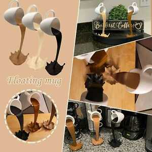 NEW Cup Sculpture Pouring Coffee Mug Art Decor Gift Home Kitchen