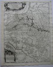Spanien Navarra Copperplate map Giacomo Cantelli Vignola 1690 Espana