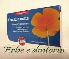 ESCOLZIA NOTTE Estratto secco 60 cpr - Valeriana, passiflora, luppolo, insonnia