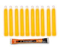 "Box of 10 (TEN) 12 Hour 6"" SnapLight (15cm) Orange lightstick (Cyalume® Branded"