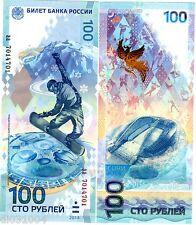 Russie RUSSIA Billet 100 ROUBLES SOCHI  2014 OLYMPIQUE COMMEMORATIVE NEUF UNC