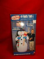 Gemmy 4 Feet Tall Airblown Self Inflatable Christmas Snowman Indoor/Porch Use609