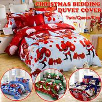 Christmas Duvet Quilt Cover Bedding Set &Pillowcase Single Double King Size  !*