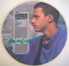 DISCO LP PICTURE DISC EROS RAMAZZOTTI - MUSICA E' - DDD 1988 461181-0 EX
