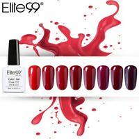 Elite99 10ml Pure Color Wine Red Colorful Soak Off UV LED Nail Gel Polish 1P