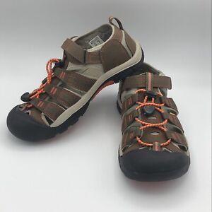 KEEN Newport H2 Sandals - Kids Dark Earth/Spicy Orange Size 5 Water Shoes