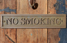 """NO SMOKING"" New Bronze Wall or Door Plaque for your Cafe, Home, Office or Bar"