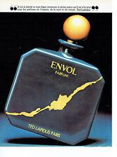Publicité Advertising 098  1981   parfum Envol par Ted Lapidus