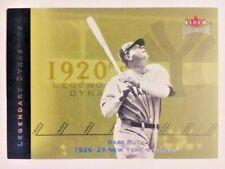 2002 Fleer Premium Babe Ruth Legendary Dynasties Insert Card