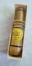 Vintage Faulk'S Wooden Duck Call Wa-33A Adjustable In Box With Paperwork