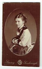 Victorian cdv photo young lady plaited bun Scarborough photographer