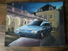 Early Work PAINT of a Car Designer 80's automobile ETUDE STYLE PROJECT CITROEN