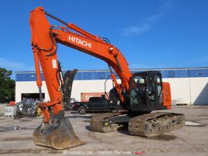 2019 Hitachi ZX245USLC-6N Excavator Hydraulic Thumb A/C Cab Aux Hyd bidadoo